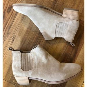 Michael Kors Tan Suede Pull On Ankle Boots